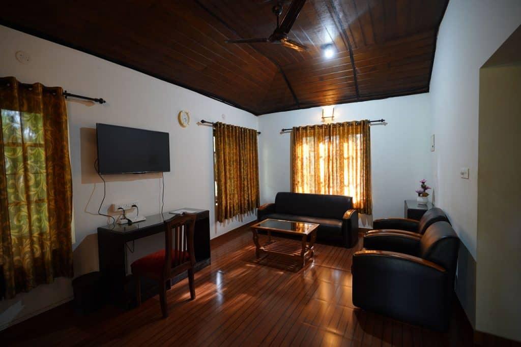 Wohnzimmer in Private Cottage